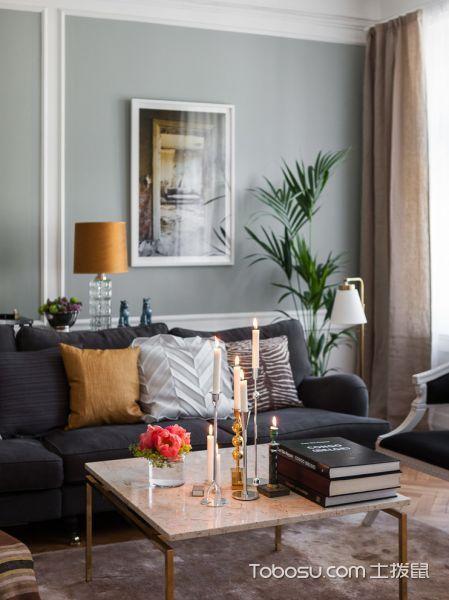 客厅咖啡色灯具北欧风格装潢设计图片