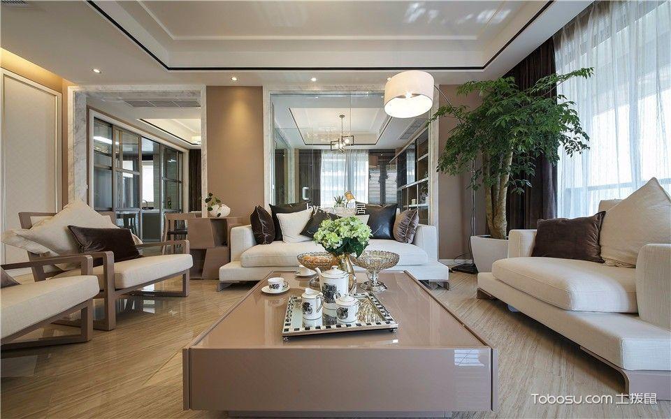 世茂香槟湖140平米现代简约风格二室装修效果图