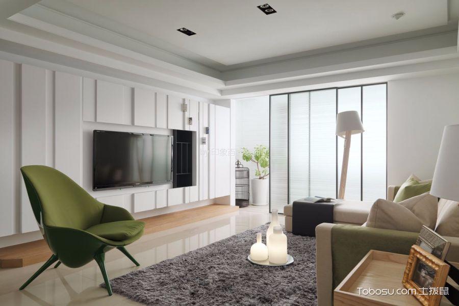 淮安半岛三居室90平方现代风格装修效果图