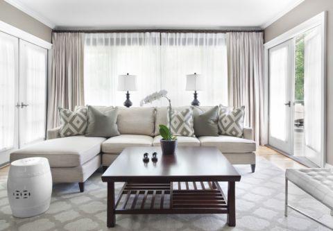 客厅美式风格效果图大全2017图片_土拨鼠豪华纯净客厅美式风格装修设计效果图欣赏