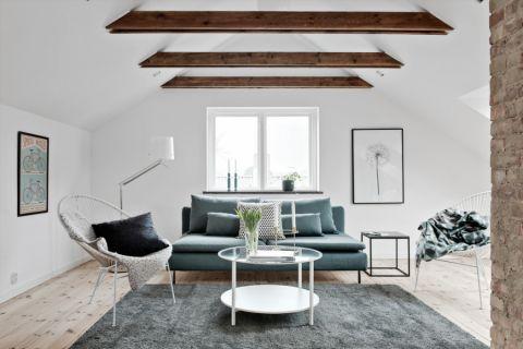 客厅北欧风格效果图大全2017图片_土拨鼠温馨纯净客厅北欧风格装修设计效果图欣赏