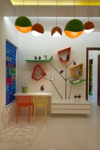 儿童房现代风格效果图大全2017图片_土拨鼠个性格调儿童房现代风格装修设计效果图欣赏