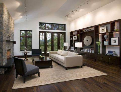 客厅现代风格效果图大全2017图片_土拨鼠清新休闲客厅现代风格装修设计效果图欣赏