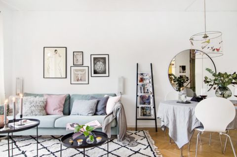 客厅北欧风格效果图大全2017图片_土拨鼠清新优雅客厅北欧风格装修设计效果图欣赏