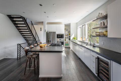 厨房现代风格效果图大全2017图片_土拨鼠简洁清新厨房现代风格装修设计效果图欣赏