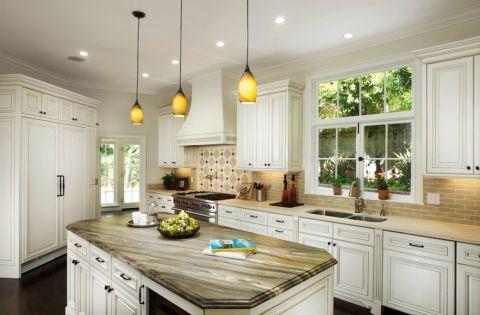 厨房现代风格效果图大全2017图片_土拨鼠干净质朴厨房现代风格装修设计效果图欣赏