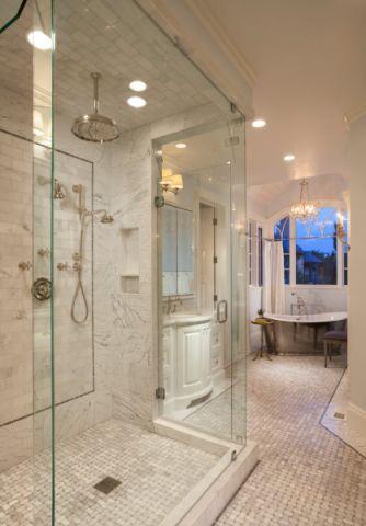 浴室简欧风格效果图大全2017图片_土拨鼠温暖清新浴室简欧风格装修设计效果图欣赏