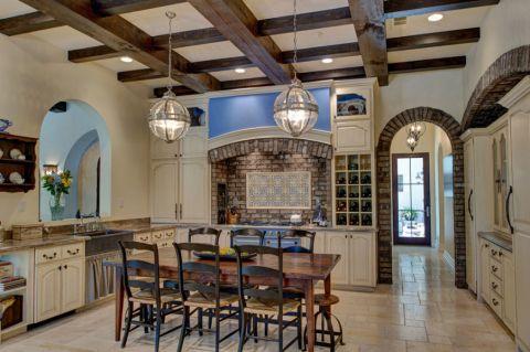 厨房简欧风格效果图大全2017图片_土拨鼠现代奢华厨房简欧风格装修设计效果图欣赏