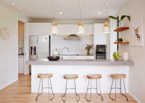 厨房北欧风格效果图大全2017图片_土拨鼠典雅纯净厨房北欧风格装修设计效果图欣赏