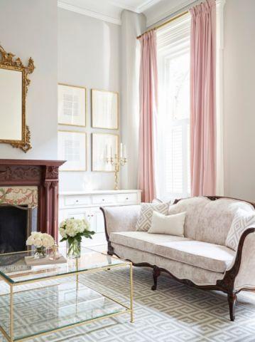 客厅美式风格效果图大全2017图片_土拨鼠文艺时尚客厅美式风格装修设计效果图欣赏