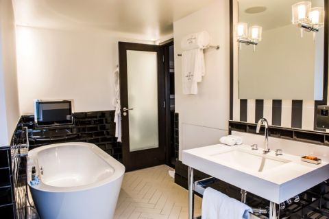 浴室简欧风格效果图大全2017图片_土拨鼠现代舒适浴室简欧风格装修设计效果图欣赏