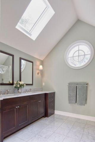 卫生间美式风格效果图大全2017图片_土拨鼠个性纯净卫生间美式风格装修设计效果图欣赏