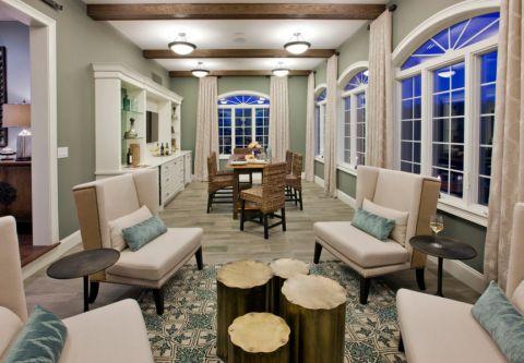 客厅美式风格效果图大全2017图片