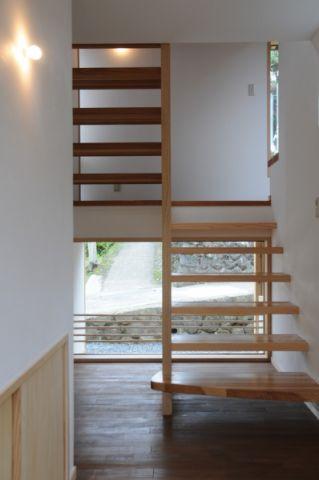 楼梯日式风格效果图大全2017图片_土拨鼠豪华唯美楼梯日式风格装修设计效果图欣赏