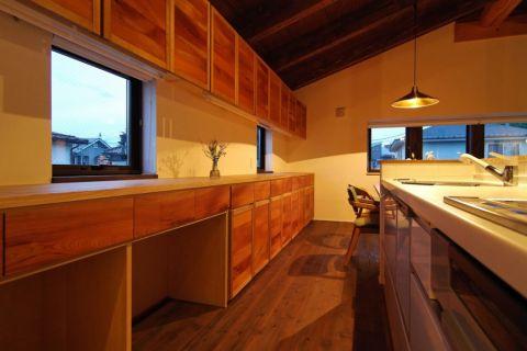 厨房日式风格效果图大全2017图片_土拨鼠唯美个性厨房日式风格装修设计效果图欣赏