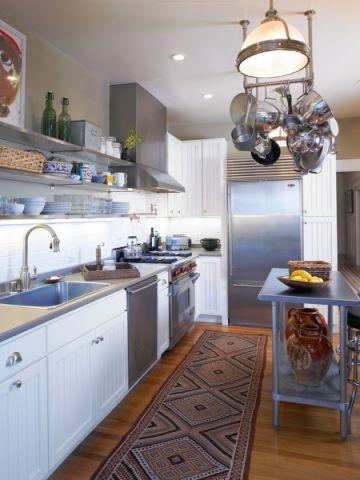 厨房混搭风格效果图大全2017图片_土拨鼠温暖富丽厨房混搭风格装修设计效果图欣赏