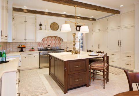 厨房简欧风格效果图大全2017图片_土拨鼠唯美温馨厨房简欧风格装修设计效果图欣赏