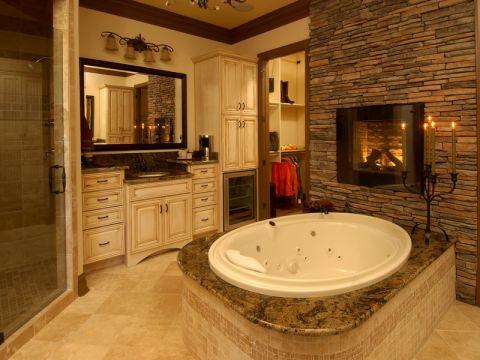 浴室简欧风格效果图大全2017图片_土拨鼠优雅自然浴室简欧风格装修设计效果图欣赏