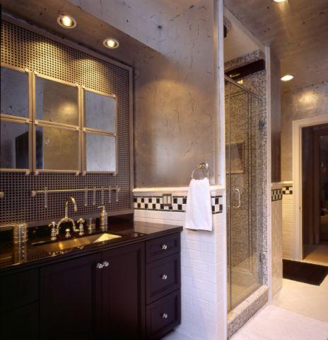 浴室简欧风格效果图大全2017图片_土拨鼠潮流纯净浴室简欧风格装修设计效果图欣赏