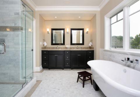 卫生间美式风格效果图大全2017图片_土拨鼠古朴纯净卫生间美式风格装修设计效果图欣赏