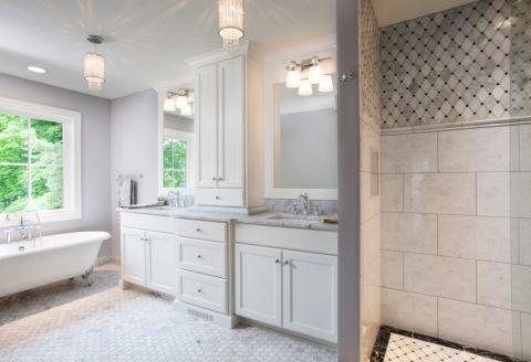 卫生间美式风格效果图大全2017图片_土拨鼠唯美纯净卫生间美式风格装修设计效果图欣赏