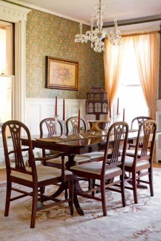 餐厅简欧风格效果图大全2017图片_土拨鼠清爽富丽餐厅简欧风格装修设计效果图欣赏