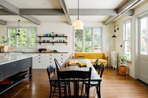 厨房简欧风格效果图大全2017图片_土拨鼠温暖质朴厨房简欧风格装修设计效果图欣赏
