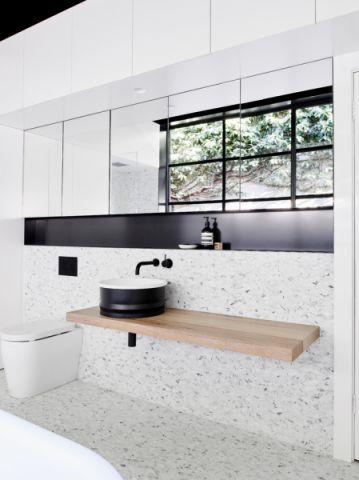 浴室现代风格效果图大全2017图片_土拨鼠极致自然浴室现代风格装修设计效果图欣赏