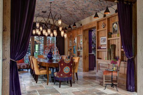 餐厅地中海风格效果图大全2017图片_土拨鼠典雅纯净餐厅地中海风格装修设计效果图欣赏