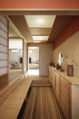 走廊日式风格效果图大全2017图片_土拨鼠清新格调走廊日式风格装修设计效果图欣赏