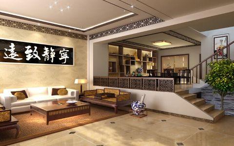 客厅米色沙发新古典风格装饰设计图片