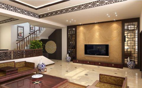 客厅白色背景墙新古典风格装潢设计图片