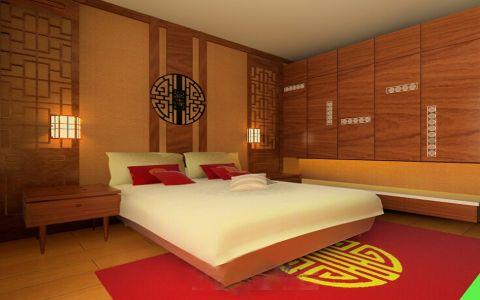 卧室米色床新古典风格装修效果图