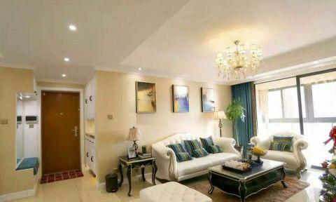 客厅米色沙发现代欧式风格装饰效果图