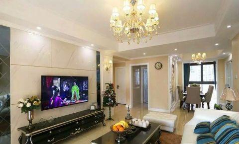 客厅黑色电视柜现代欧式风格装饰图片