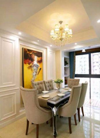 餐厅咖啡色餐桌现代欧式风格装潢图片