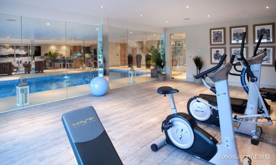 2020美式客厅装修设计 2020美式健身房图片
