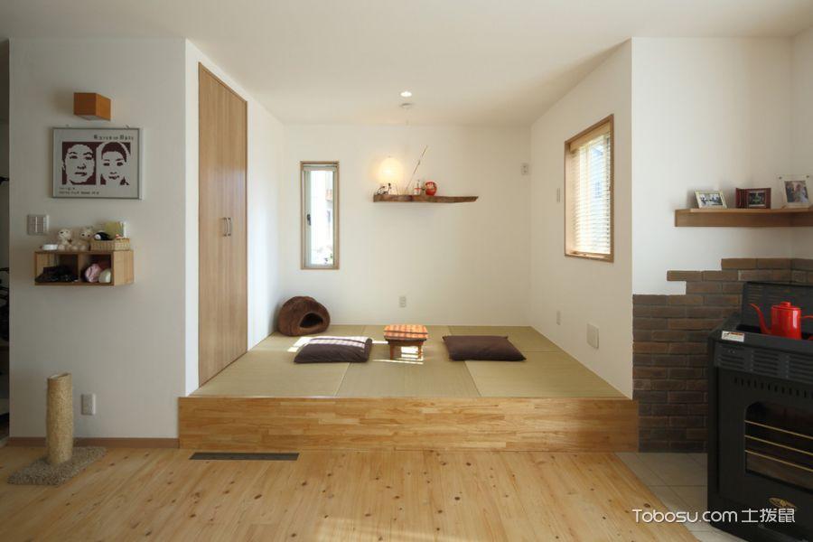日式客厅榻榻米装修图片,舒适中体现返璞归真