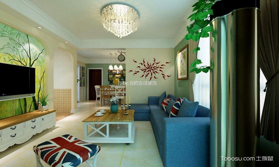 合肥尚澤大都會80平米混搭二居室裝修案例
