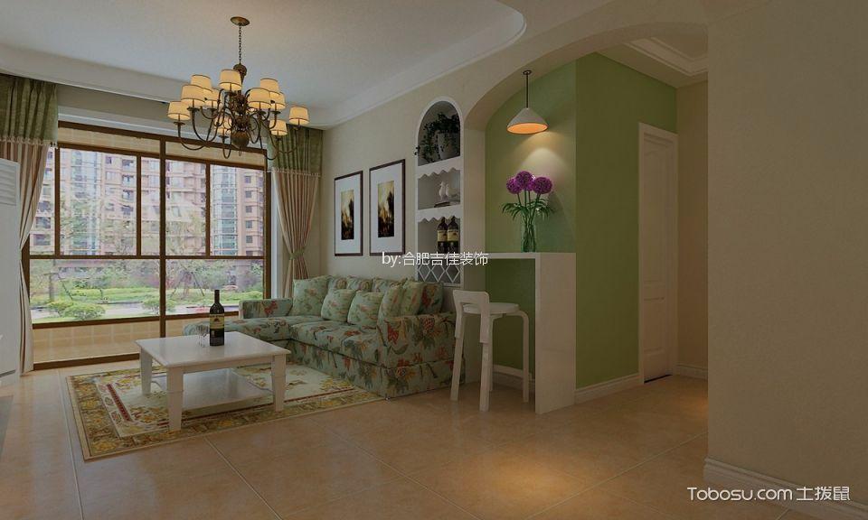合肥水立坊80平米简约风格二居室装修效果图