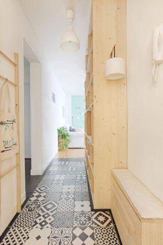 走廊北欧风格效果图大全2017图片_土拨鼠文艺自然走廊北欧风格装修设计效果图欣赏