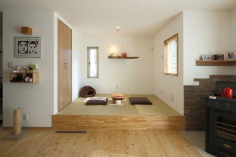 客厅日式风格效果图大全2017图片_土拨鼠干净富丽客厅日式风格装修设计效果图欣赏
