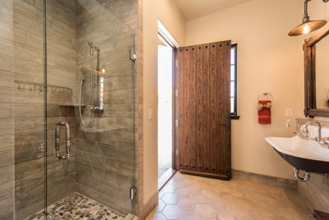 浴室地中海风格效果图大全2017图片_土拨鼠美感创意浴室地中海风格装修设计效果图欣赏