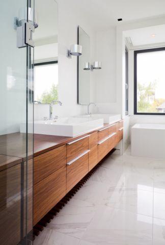 浴室现代风格效果图大全2017图片_土拨鼠简约质感浴室现代风格装修设计效果图欣赏