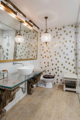 浴室混搭风格效果图大全2017图片_土拨鼠豪华个性浴室混搭风格装修设计效果图欣赏