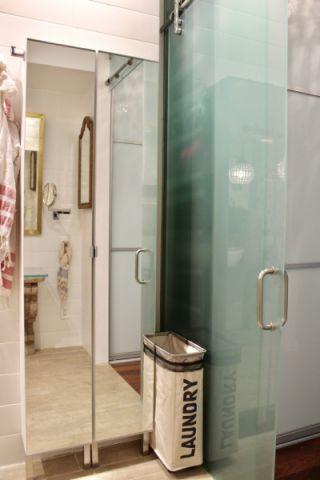 卫生间隔断混搭风格装潢图片