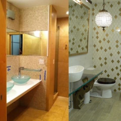 卫生间走廊混搭风格装饰设计图片