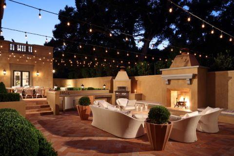 阳台茶几地中海风格装饰设计图片