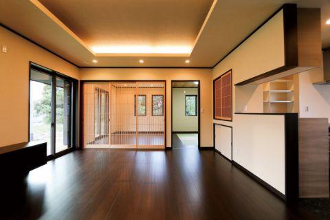 客厅地砖日式风格装修效果图