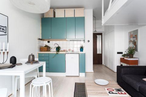 厨房北欧风格效果图大全2017图片_土拨鼠典雅写意厨房北欧风格装修设计效果图欣赏